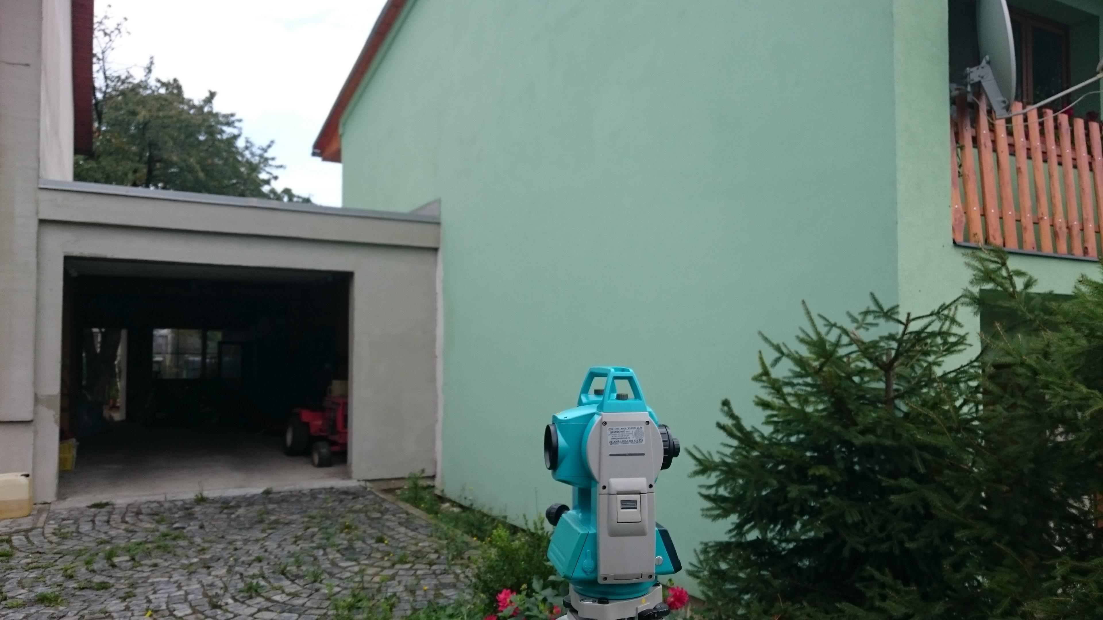 Zaměření přístavby garáže